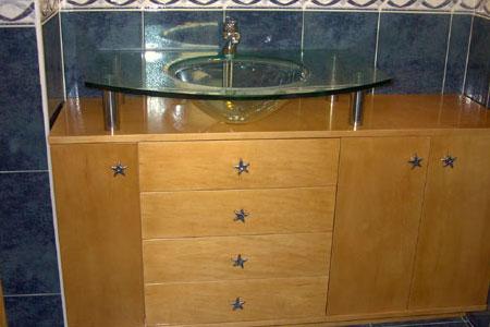 Mueble bano madera ebanister a ostal for Mueble bano madera
